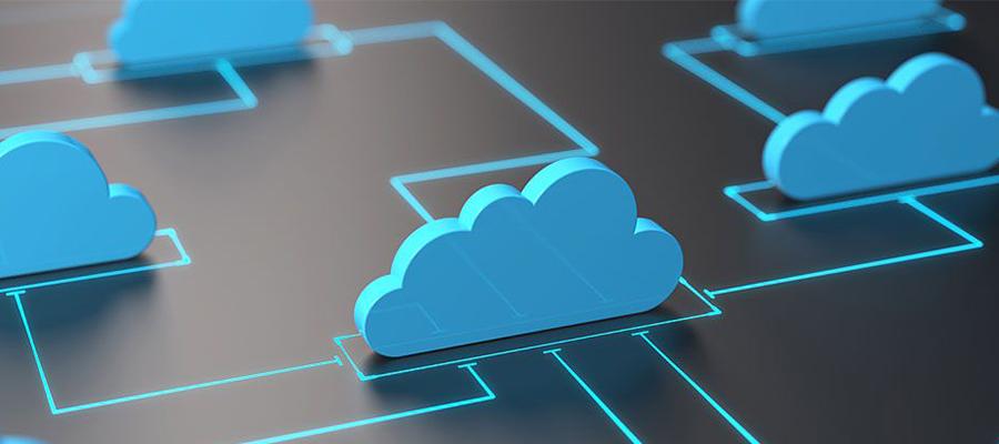 ilustração de nuvens conectadas